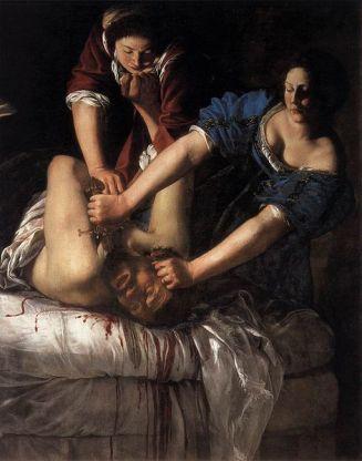 Artemisia Gentileschi Judith et Holopherne