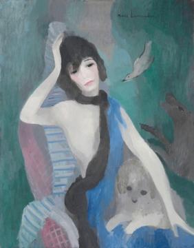 Marie Laurencin portrait de mademoiselle Chanel