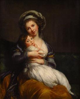 Vigée Lebrun Autoportrait avec sa fille