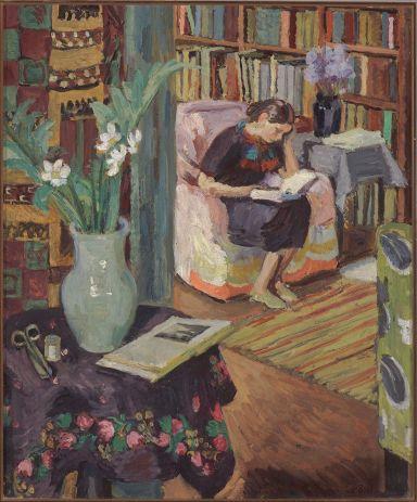 Vanessa Bell, intérieur avec fille de l'artiste, c. 1935-36