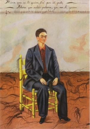 Frida Kahlo autoportrait aux cheveux coupés 1940