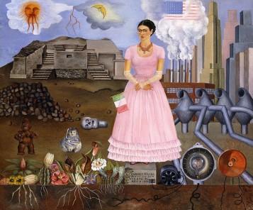 Frida Kahlo autorretrato en la frontera