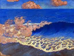 Marine bleue effet de vague georges lacombe