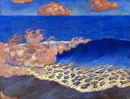 Marine bleue effet de vague georges lacombe